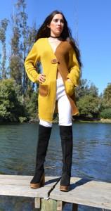 abrigo  bicolor