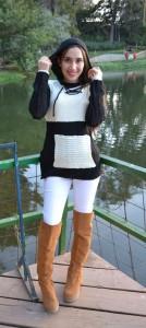 canguro bicolor negro - blanco