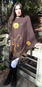 poncho bordado